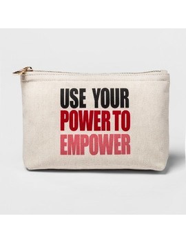 Women's Use Your Power To Empower Canvas Clutch   A New Day™ + Vital Voices by A New Day + Vital Voices