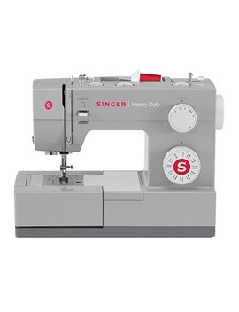 Singer 4423 23 Built In Stitches 12 Decorative Stitches, 60 Percents Stronger Motor & Automatic Needle Threader, Perfect Types O Heavy Duty Sewing Machine, White by Singer