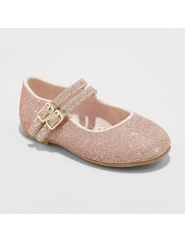 Toddler Girls' Genuine Kids® From Osh Kosh Aneesa Ballet Flats   Rose Gold by Genuine Kids From Osh Kosh