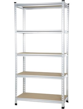 Amazon Basics Medium Duty Shelving Double Post Press Board Shelf   48 X 18 X 72 by Amazon Basics