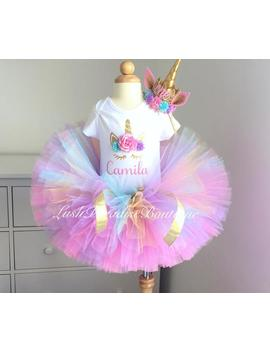 Unicorn Birthday Outfit , Unicorn Headband Tutu And Bodysuit by Etsy