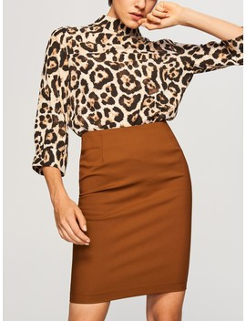 Pencil Skirt With Zip At The Back by Reserved