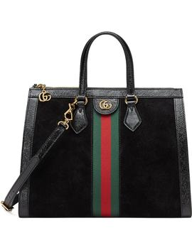 Medium Ophidia House Web Suede Satchel by Gucci