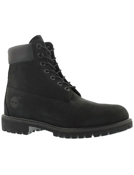 """Men's Icon 6"""" Premium Black Waterproof Ankle Boots by Timberland"""