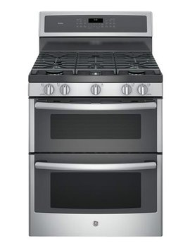 Profile Series 6.8 Cu. Ft. Self Cleaning Freestanding Double Oven Gas Convection Range   Stainless Steel by Ge