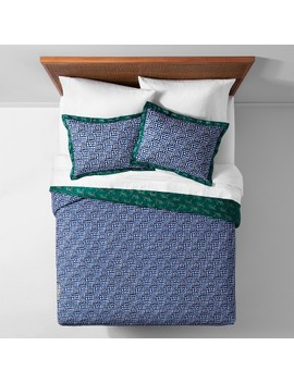Blue Panther Border Duvet Cover Set   Opalhouse™ by Opalhouse™