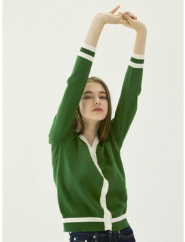 Color Cardigan Green by Yuppe