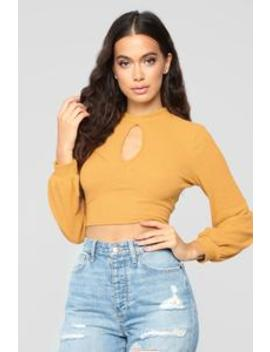 Not Over The Weekend Top   Mustard by Fashion Nova