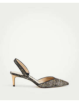 Elora Tweed Slingback Pumps by Ann Taylor
