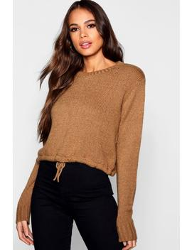 Tall Ruched Hem Soft Knit Jumper by Boohoo