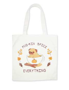 Pug Kin Spice Tote Bag by Forever 21