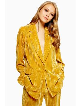 Crinkle Velvet Jacket by Topshop