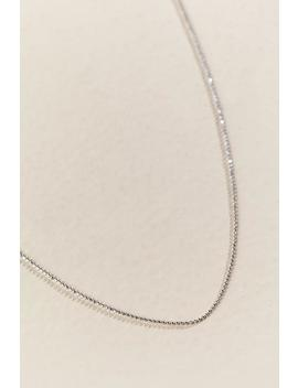 "Cut Ball Sterling Silver 18"" Chain by Francesca's"