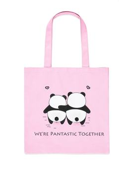 Pantastic Together Graphic Tote by Forever 21