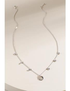 Kara Sterling Silver Coin Drop Necklace by Francesca's