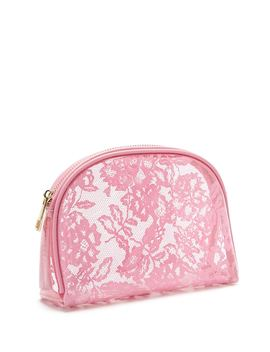 Clear Floral Makeup Bag by Forever 21