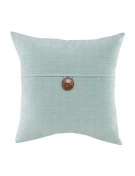"""Mainstays Dynasty Coconut Button Accent Decorative Throw Pillow, 18"""" X 18"""", Turquoise by Mainstays"""
