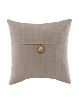 """Mainstays Dynasty Coconut Button Accent Decorative Throw Pillow, 18"""" X 18"""", Jute by Mainstays"""