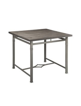Acme Lyn Lee Counter Height Table In Weathered Dark Oak And Dark Bronze by Acme
