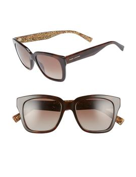52mm Square Polarized Sunglasses by Marc Jacobs
