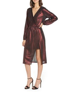 Long Sleeve Deep V Neck Midi Dress by Leith