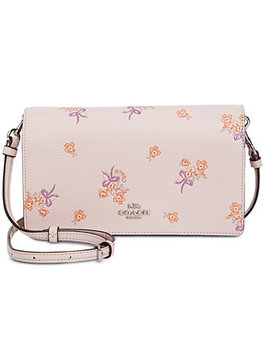 Floral Bow Print Foldover Crossbody by Coach