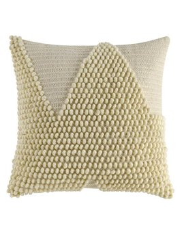 """Better Homes & Gardens Handcrafted Looped Triangle Decorative Throw Pillow, 18""""X18"""", Ivory by Better Homes & Gardens"""
