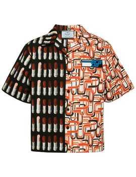 Printed Boxy Fit Shirt by Prada