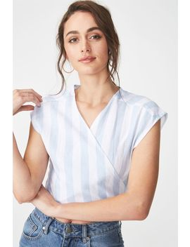 Jamie Wrap Top by Cotton On