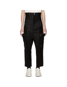 Men's Black Dirt Cargo Pants by Rick Owens