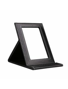 D Ucare Travel Folding Makeup Mirror Portable Tabletop Vanity Mirror With Standing Small by D Ucare