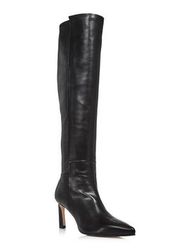 Women's Demi Pointed Toe Leather High Heel Tall Boots by Stuart Weitzman