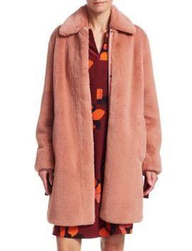 Faux Fur Cocoon Coat by Akris Punto