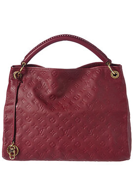 Louis Vuitton Burgundy Monogram Empreinte Leather Artsy Mm by Louis Vuitton