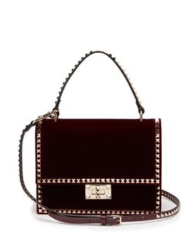 Rockstud No Limit Velvet Cross Body Bag by Valentino