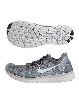 Nike Men's Free Rn Flyknit 2017 Running Shoe Blue Fox/Pure Platinum Wolf Grey White 8.5 by Nike