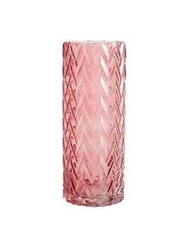 Pink Glass Cylinder Vase by Pier1 Imports