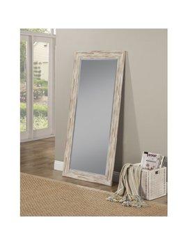 Farmhouse Antique White Wash Leaner Mirror by Sandberg Furniture