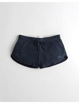 Ribbed Curved Hem Shorts by Hollister