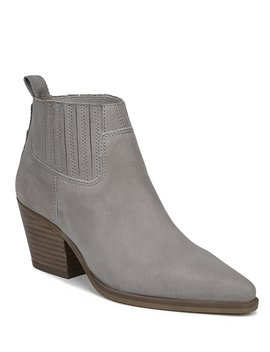 Sarto By Franco Sarto Lasso Leather Block Heel Booties by Franco Sarto
