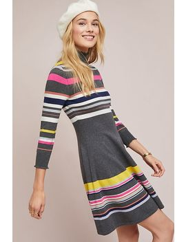 Striped Turtleneck Dress by Maeve