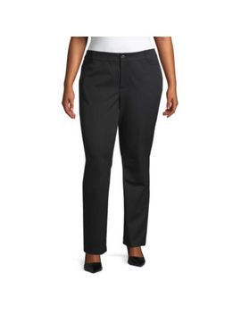 St. John's Bay Bi Stretch Striaght Leg Pant   Plus by St. John`s Bay