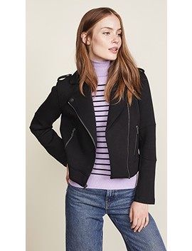 Harlei Scuba Moto Jacket by Cupcakes And Cashmere
