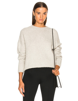 Brushed Wool Crew Sweater by Helmut Lang