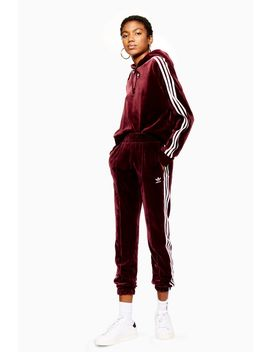 Velour Trackpants By Adidas by Topshop
