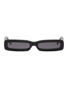 Black Long Rectangular Sunglasses by George Keburia