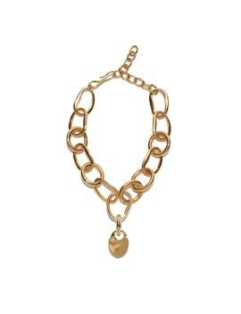 Gold Porto Locket Necklace by Lizzie Fortunato