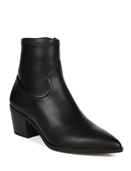 Shaneen Leather Block Heel Booties by Franco Sarto