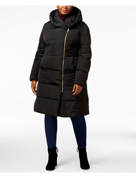 Signature Plus Size Pillow Collar Heavyweight Puffer Coat by Cole Haan