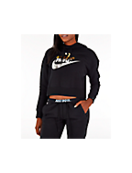Women's Nike Sportswear Rally Metallic Crop Hoodie by Nike